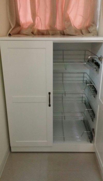 美生活館--全新鄉村家具訂製實木純白雙門四拉籃收納櫃斗櫃衣櫃置物櫃可修改尺寸顏色再報價