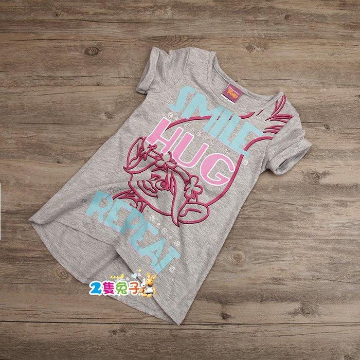 。2隻兔子優質童裝。歐美 女童 中大童 純棉 妙小姐 長版 T恤 E0715 2018夏季款 現貨+追加