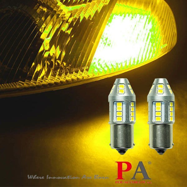 【PA LED】特調光色 1156 單芯 30晶 2835 SMD LED 黃金光 黃光 方向燈 維大力光色