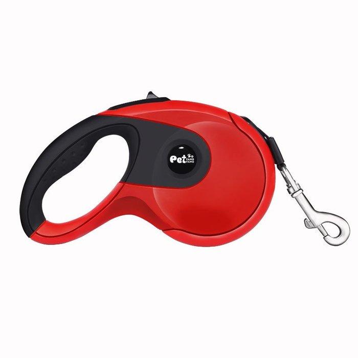 廠家直銷 高端遛狗繩 包膠防滑狗狗牽引帶 寵物自動伸縮牽引繩~5米~中小型犬專用