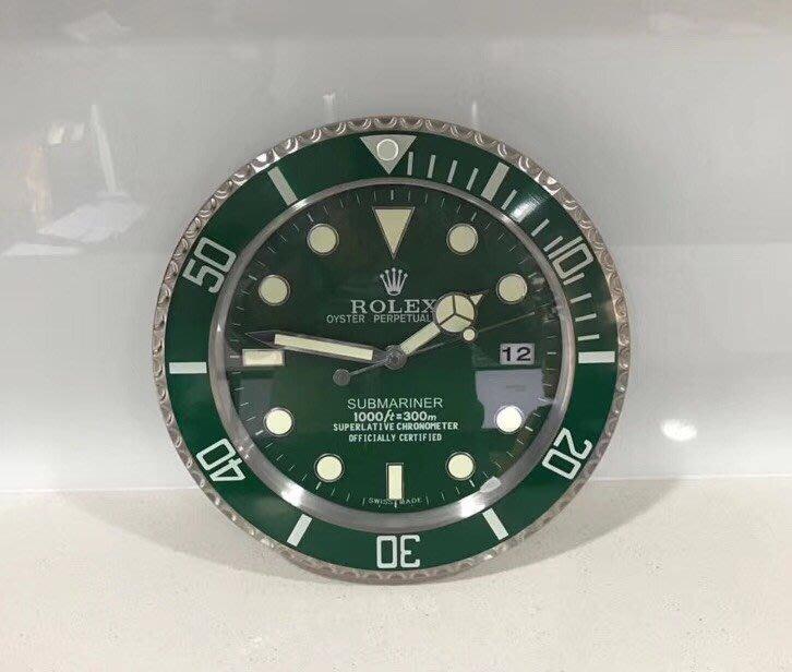 Rolex 勞力士 手錶面盤 水鬼 GMT 數字 靜音 夜光 時鐘 掛鐘 日期顯示