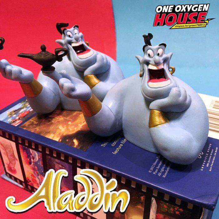 美國 絕版 Disney Aladdin 阿拉丁 精靈 神燈 玩具 公仔 老玩具 半身 擺件 大笑款