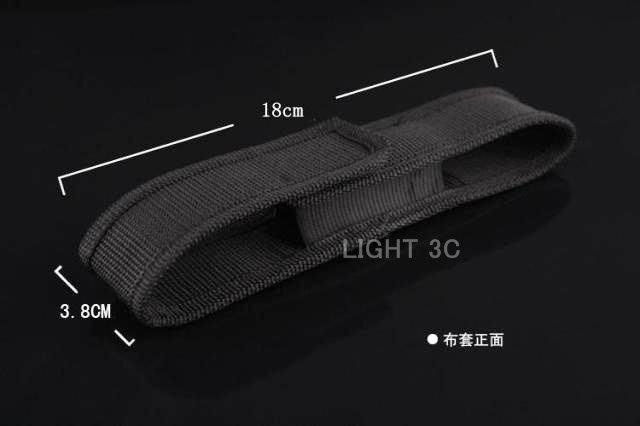 【亞昕光電】LED手電筒軍用防塵帆布皮套 適合C8 XM-L2 T6 U2 手電筒