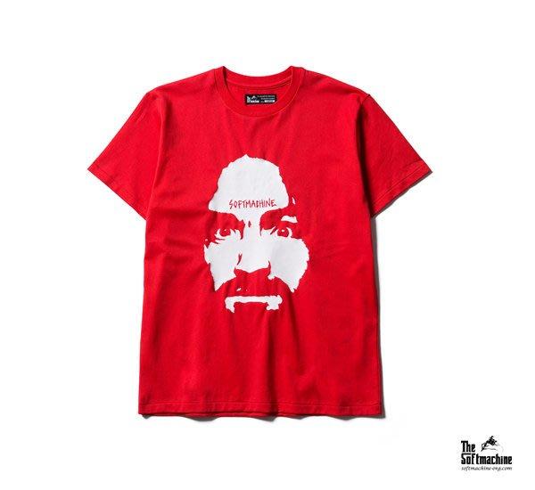 GOODFORIT / 日本品牌Softmachine CHARLIE Tee曼森家族手繪標語上衣/黑、紅