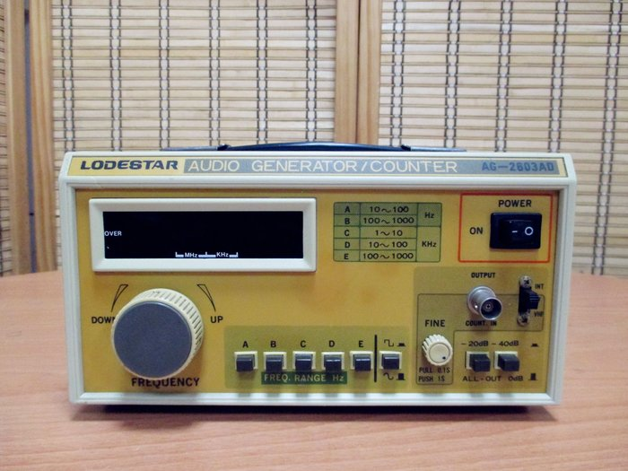 康榮科技二手測試儀器Lodestar AG-2603AD Digital Audio Generator/Counter