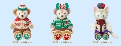 尼德斯Nydus~* 日本迪士尼海洋 達菲熊 傑拉多尼 傑拉醬 雪莉梅 2015 聖誕節限定款 衣服 預購-11月中到貨