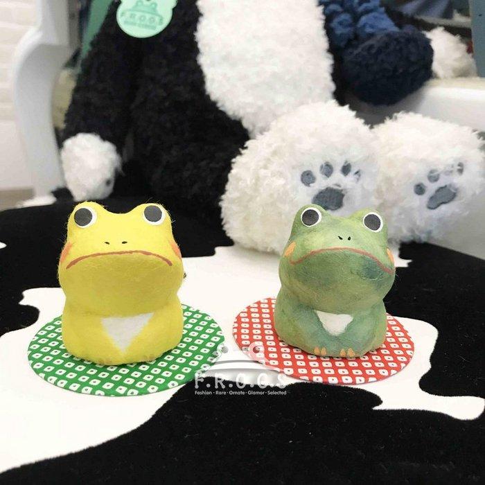 F.R.O.G.S AA0084日本進口京都純手工和紙龍虎作招財福氣蹲坐青蛙造型擺件禮品擺設裝飾品手工藝(現貨)