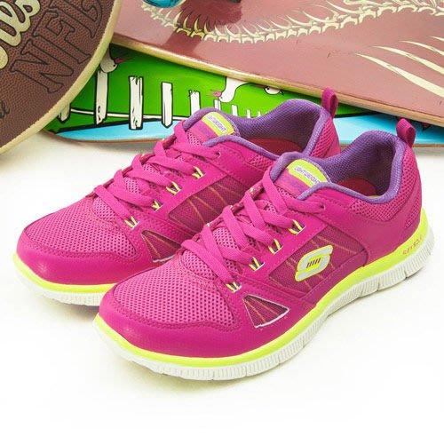 利卡夢鞋園–skechers 輕量舒適運動走路鞋--Flex Appeal -桃紅-11727HPLM-女-US 7號