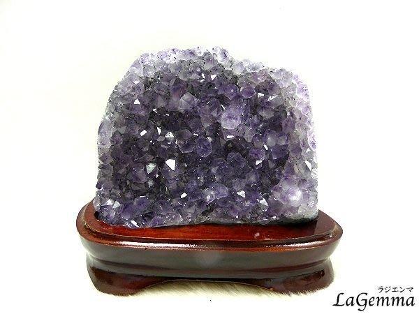 【寶峻水晶】提升好運勢~天然烏拉圭紫水晶/紫晶座,結晶紫又亮,開運寶石WA-93/1348g