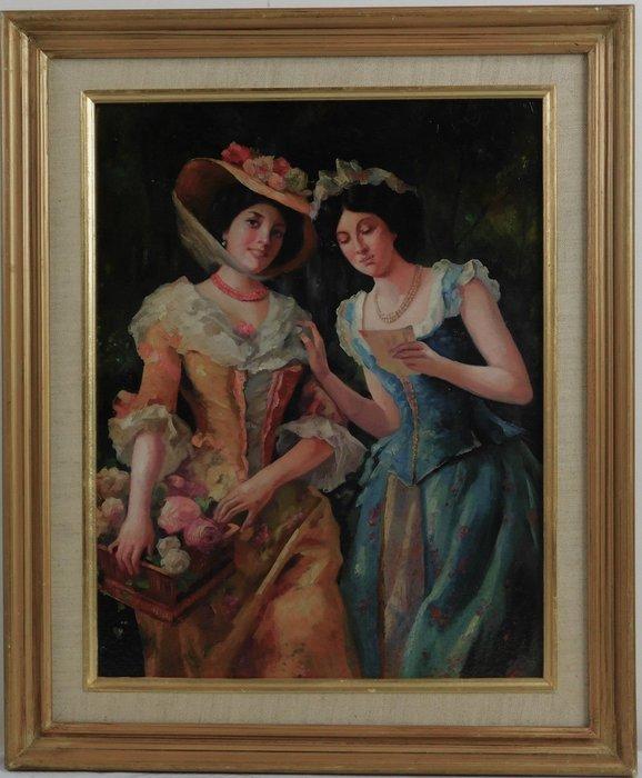 手繪 油畫 b   18000   含框 43 46  公分