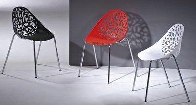 【DH】貨號B399-02《喬兒》亮面造型餐椅/洽談椅/單人時尚造型椅˙三色˙主要地區免運