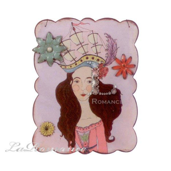 【Creative Home】Heart & Home 心戀家居系列風格美女鐵製留言板 - 紫