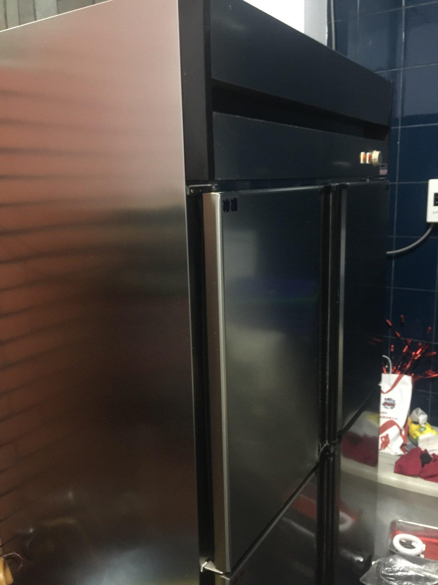 管冷 冰箱 管冷冰箱 半冷藏 半冷凍 厚鐵 加大風扇 四門冰箱