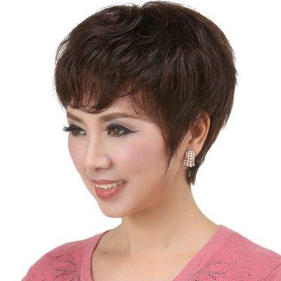 水媚兒假髮ZMF020HH♥新款女士真髮 頂心純手鉤真髮 經典優雅 短髮♥ 預購 團購批發