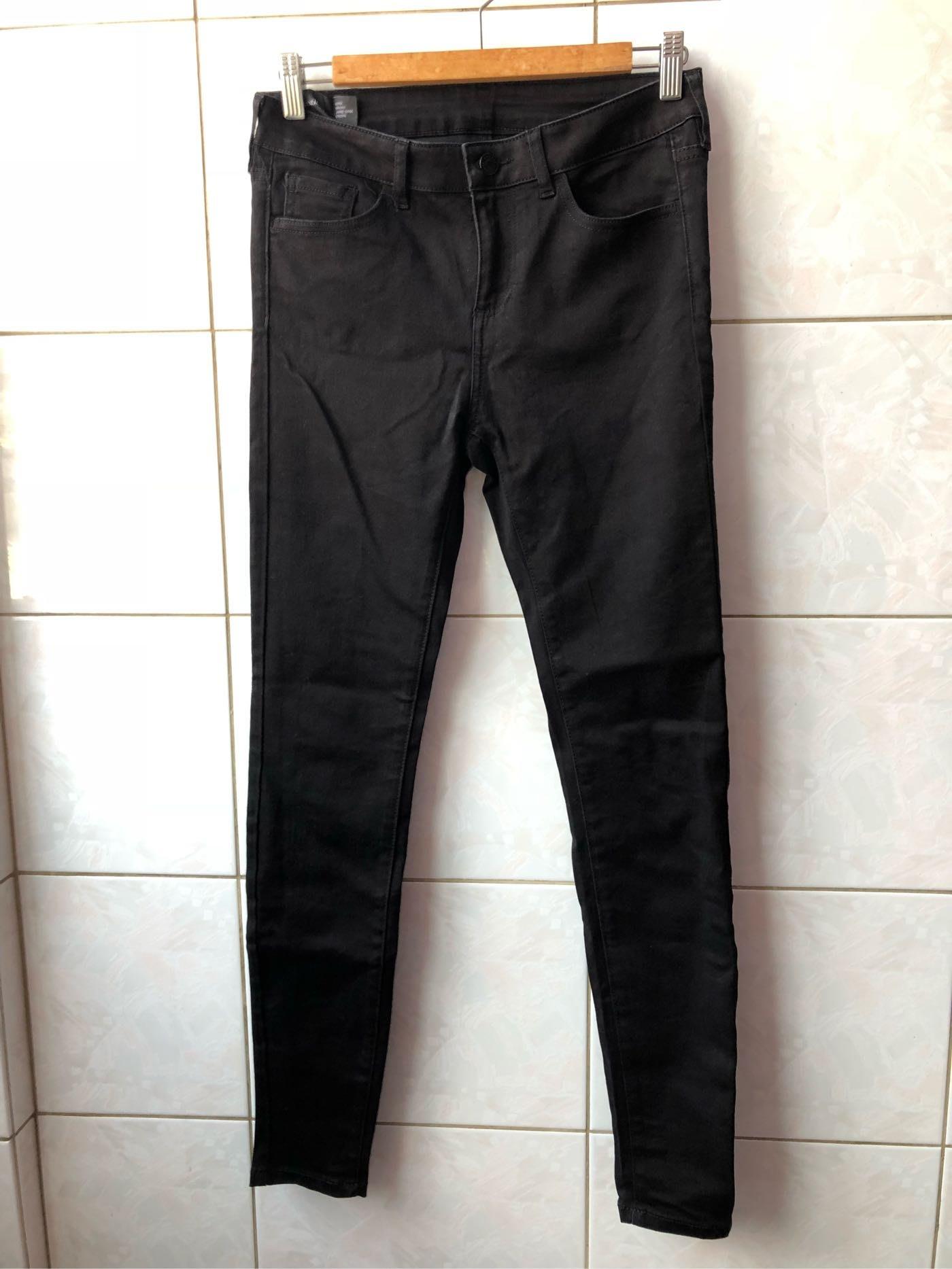 AX/ARMANI EXCHANGE 黑色合身窄管褲