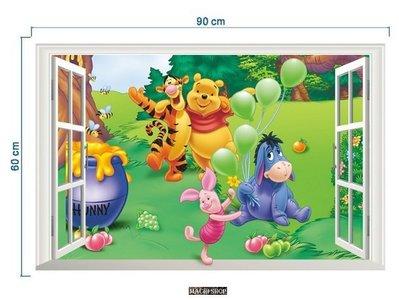 日韓流行3D立體維尼熊牆貼 居家佈置可移除及重覆使用壁貼 (此款只能郵寄掛號) [ MACHI SHOP ]