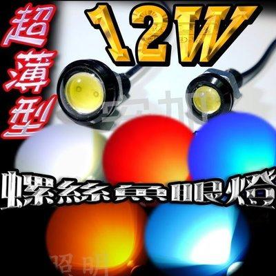 現貨 光展 臺製12W鷹眼 超薄型 螺絲魚眼日行燈牛眼小魚眼 牛眼 12W小魚眼 螺絲燈 鷹眼燈 車牌燈