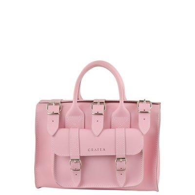 代購 英國 GRAFEA LUNA PINK Leather Shoulder Bag女真皮手提包、側背包