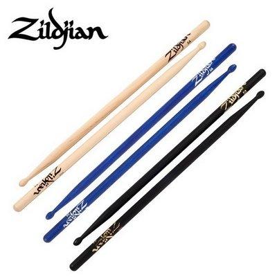☆ 唐尼樂器︵☆美國製 Zildjian 5A 胡桃木爵士鼓鼓棒(原木色/藍色/黑色)