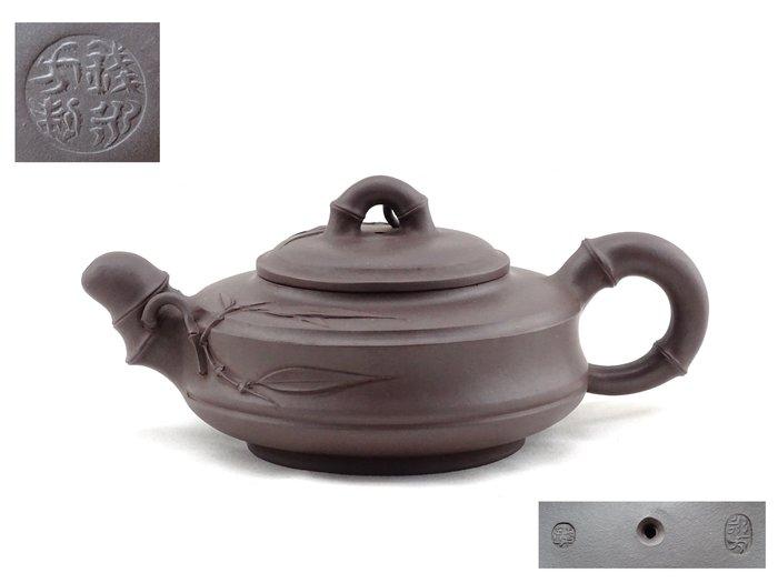 [[ 茶壺 ]] 紫砂 錢永方 竹段壺(No.31) 早期收藏 喜歡就帶走