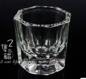 2隻貓**美甲用品**八角水晶杯  水晶液 洗筆水專用 溶劑杯 美甲飾品 美甲材料 凝膠指甲 水晶指甲**
