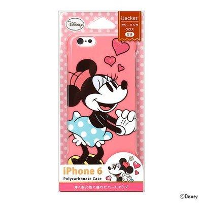 尼德斯Nydus~* 日本正版 迪士尼 米妮 Minnie 硬殼 手機殼 粉紅愛心款 4.7吋 iPhone6