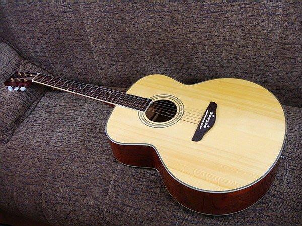 ☆ 唐尼樂器︵☆歐洲進口 STAGG 名琴 JUMBO 厚筒木吉他/頂級紅衫單板民謠吉他