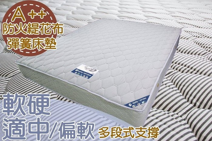 【DH】商品編號R103商品名稱A++頂級飯店御用防火布面6尺雙人床墊,備有現貨可參觀。主要地區免運費