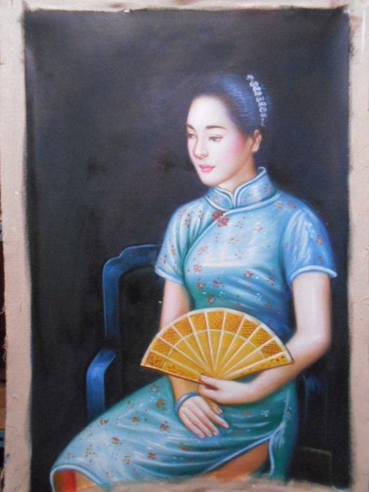 ◎吉祥古玩畫廊◎油畫33~陳逸飛~結束營業虧本賣