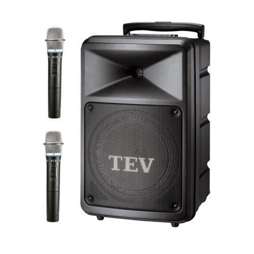 【昌明視聽】TEV TA-780 10吋 行動擴音喇叭 附2支選頻式無線麥克風 CD 藍芽USB撥放器內建