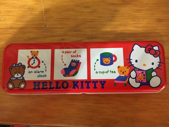 Sanrio hello kitty 凱蒂貓 鉛筆盒 日本製 絕版 1988