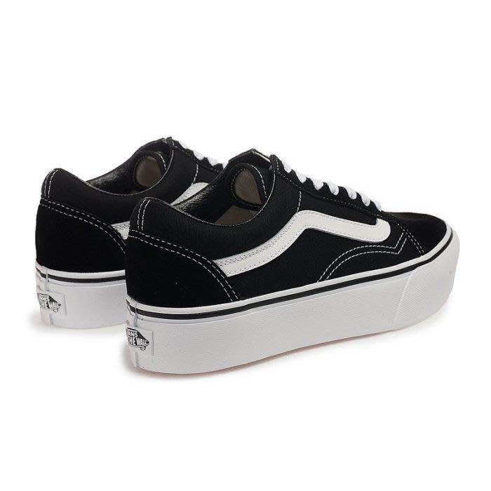 【Luxury】正品販售 VANS OLD SKOOL 黑白 厚底 增高 權志龍 麂皮 經典 基本 低筒 滑板鞋 女鞋
