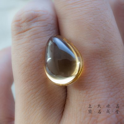 『上久水晶』【頂級黃水晶戒面】【8.2...