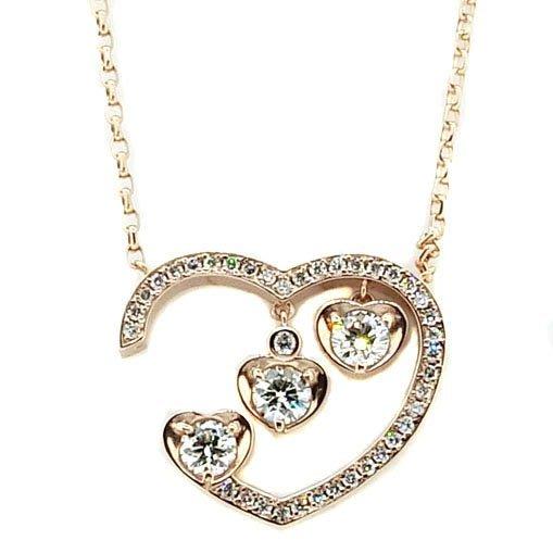 【JHT 金宏總珠寶/GIA鑽石專賣】0.228/0.224/0.211ct鑽石墜鍊/材質:18k(JB41-B18)