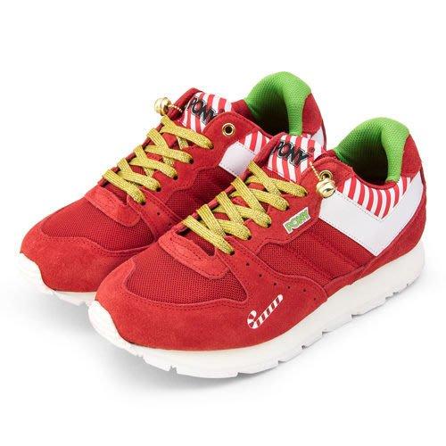 利卡夢鞋園–PONY 繽紛韓風復古慢跑鞋 SOLA--V 聖誕節款 紅白 9344SO24RD-女