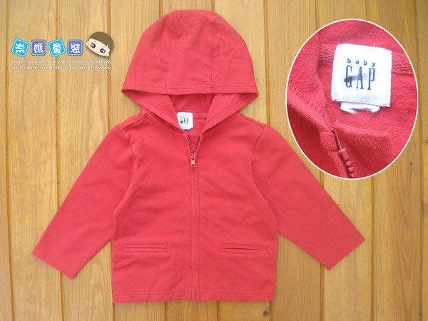 ◎崇媽~二館◎3m/6m/18m◎(10804)美國品牌紅色連帽鋪棉外套