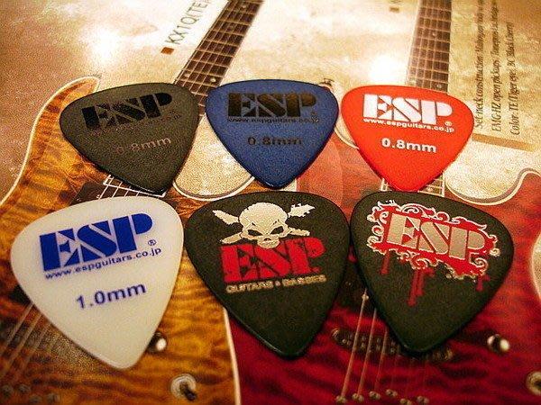 ☆ 唐尼樂器︵☆超酷 ESP 電吉他 Bass 用彈片/ PICK (Fender/ Gibson/ Jackson/ PRS/ Suhr 等適用)