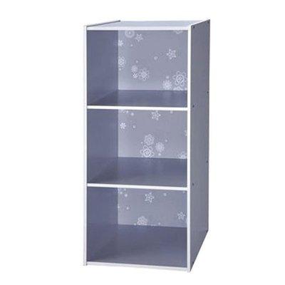 書櫃【家具先生】1300-GY《花系列》3格花紋創意書櫃 ( 收納櫃/置物櫃/櫃子)(免運)《時尚灰