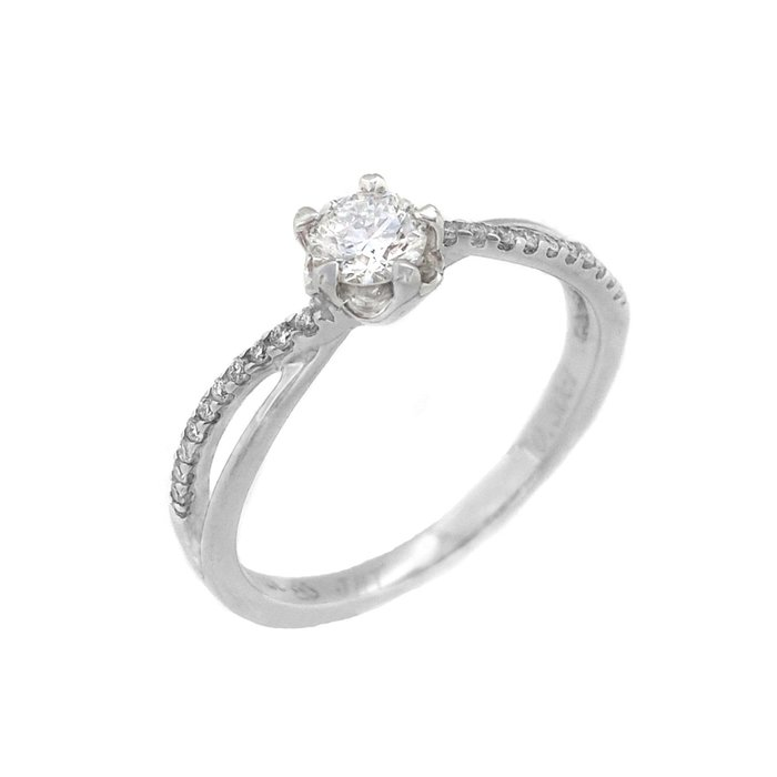 【JHT 金宏總珠寶/GIA鑽石專賣】0.30ctGIA天然鑽石戒指/F-VS2/材質:18K(B3546)
