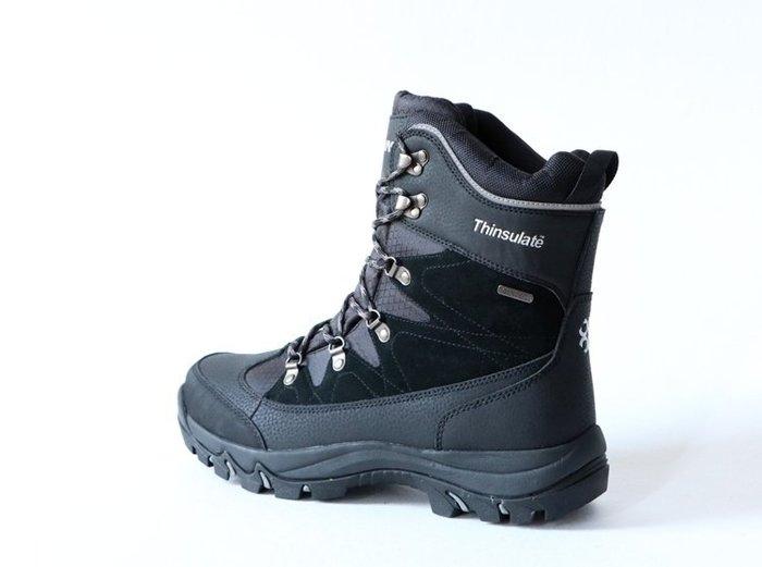戶外登雪山防風防水防寒男靴 保暖登山靴運動鞋雨鞋 北海道雪地靴 雪靴 新雪麗材質 Thinsulate 北歐丹麥訂單