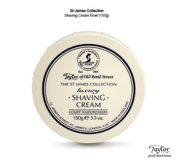 GOODFORIT / 英國百年頂級Taylor Shaving Cream Bowl聖詹姆斯保濕刮鬍膏/150g