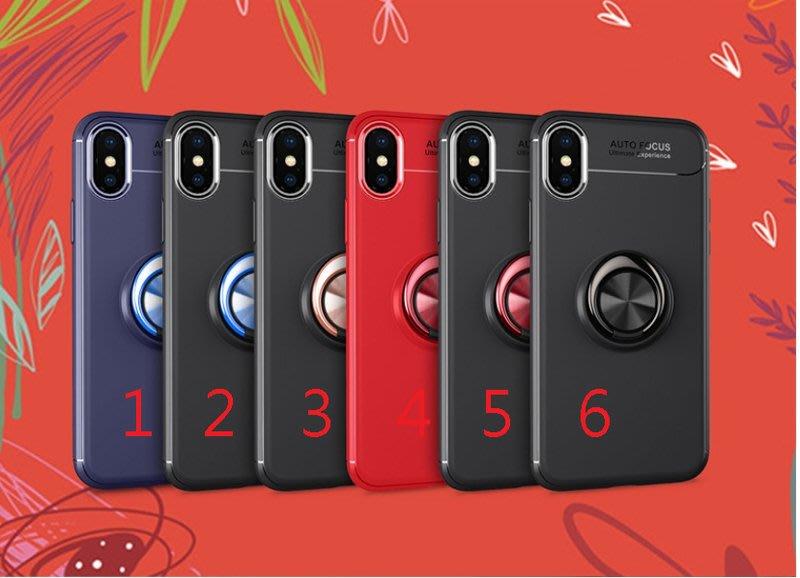 iphone X隱形磁吸指環支架TPU防摔套 蘋果6 7 8plus全包旋轉軟殼iphone 5/5S/SE i8+