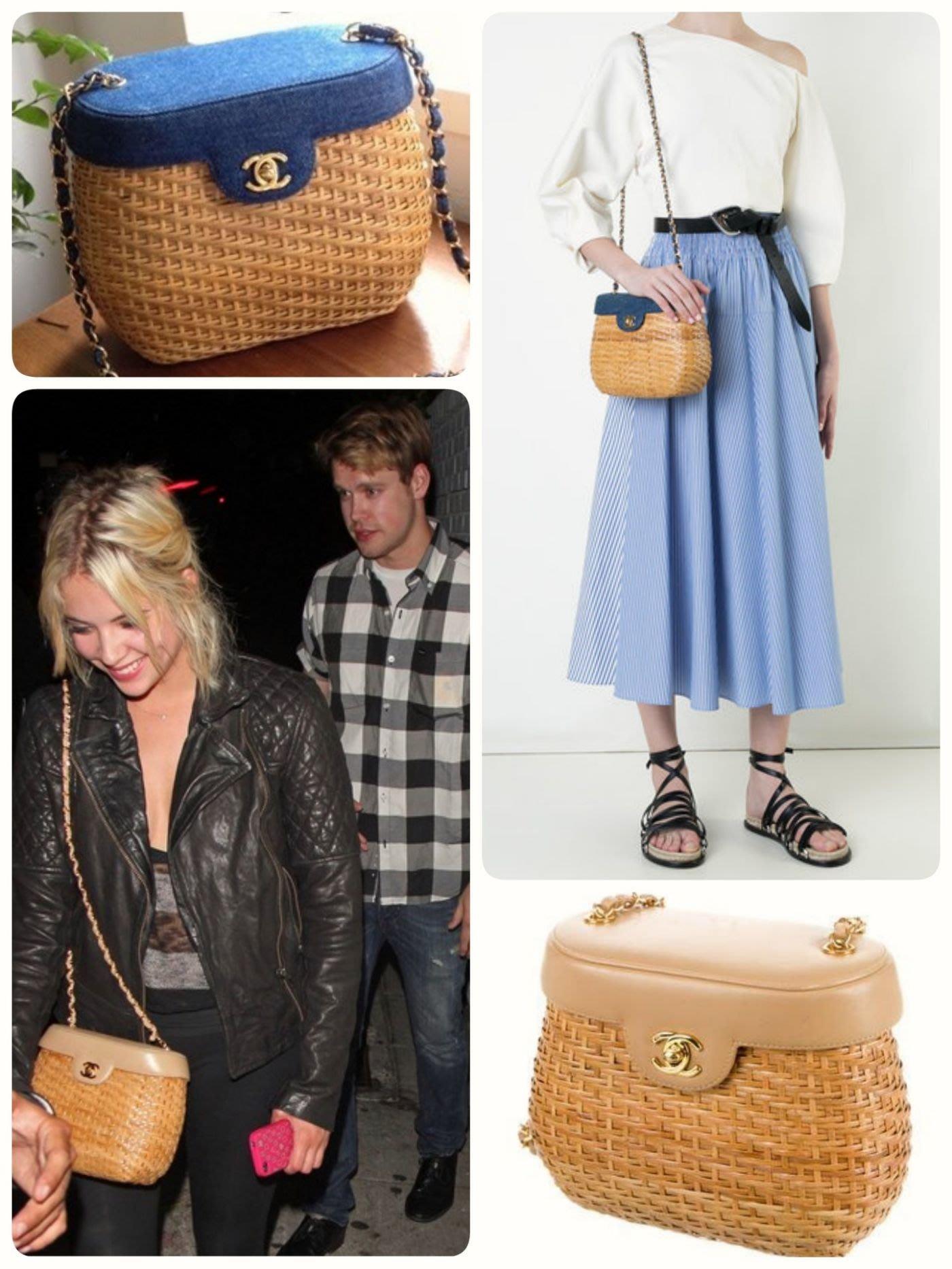 Chanel ❤️ 竹編 藤編 編織 竹籃包
