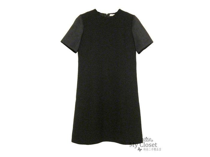 My Closet 二手名牌 CELINE 黑色短袖超顯瘦洋裝