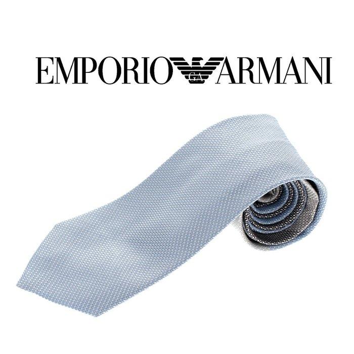EMPORIO ARMANI 頂級正品 限量漸層窄版領帶  淡藍款【現貨免運】 ↗小夫妻精品嚴選↖
