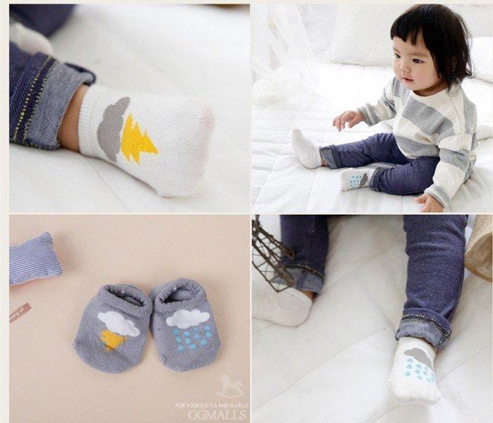【現貨+預購】閃電雲朵防滑小襪子童襪男女寶寶純棉舒適短襪寶寶襪船襪