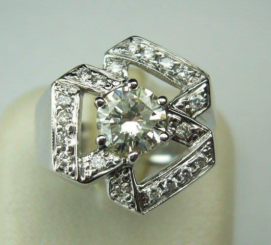 [吉宏精品交流中心]70分南非天然鑽石造型戒指(鑽戒)(中性戒)(八心八箭)