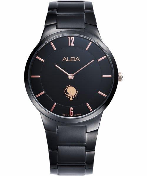 ALBA 劉以豪設計限量款女錶(ATAU93X1)-黑/38mm VX50-X287K