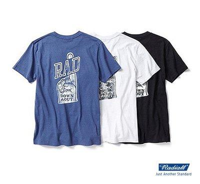 GOODFORIT / 日本品牌Radiall DOWN & OUT Tee復古球場加油標誌環保棉上衣/三色