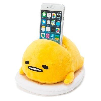 尼德斯Nydus 日本正版 三麗鷗 Sanrio 蛋黃哥 好累唷~ 會說話的 手機架 娃娃 公仔